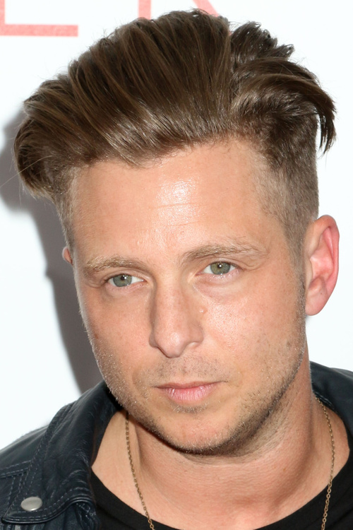 cool men's hairstyle with side undercuts