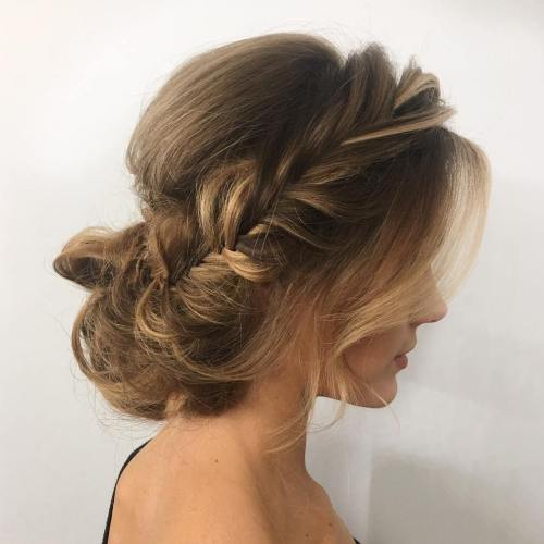 40 updos for long hair easy and cute updos for 2017 loose messy braided updo urmus Choice Image