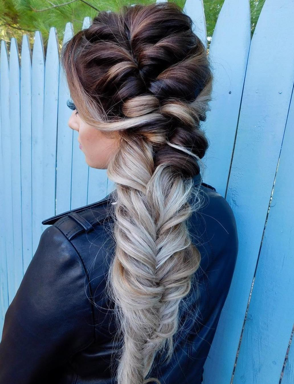 Messy Side Braid For Thick Hair
