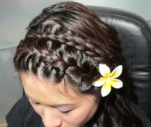 two headband braids hairstyle