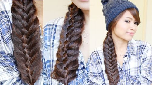 thick side braid hairstyle for long hair
