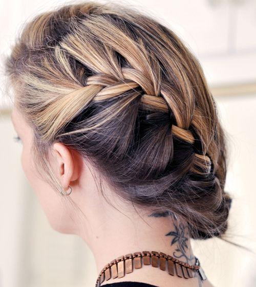 30 elegant french braid hairstyles french braid updo pmusecretfo Gallery