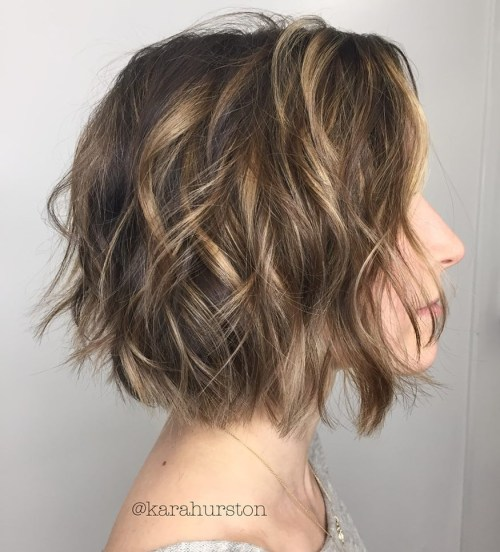 Messy Bob Cut With A Jaw-Length Fringe