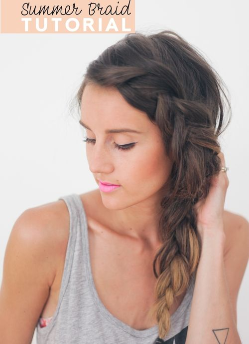 Side messy French braid