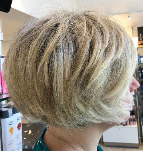 Tousled Jaw-Length Bob