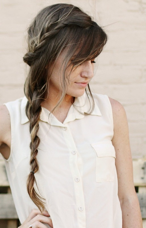 side boho braid for long hair