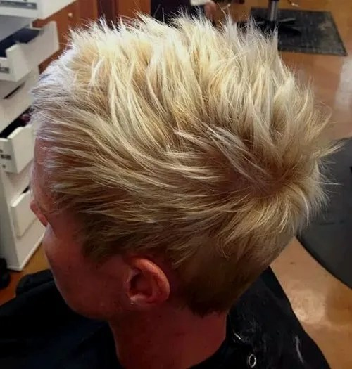 women's short spiky haircut