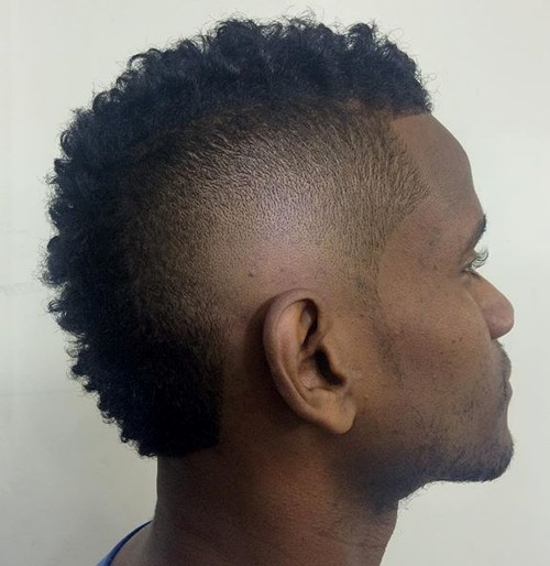 men's short Mohawk for natural hair