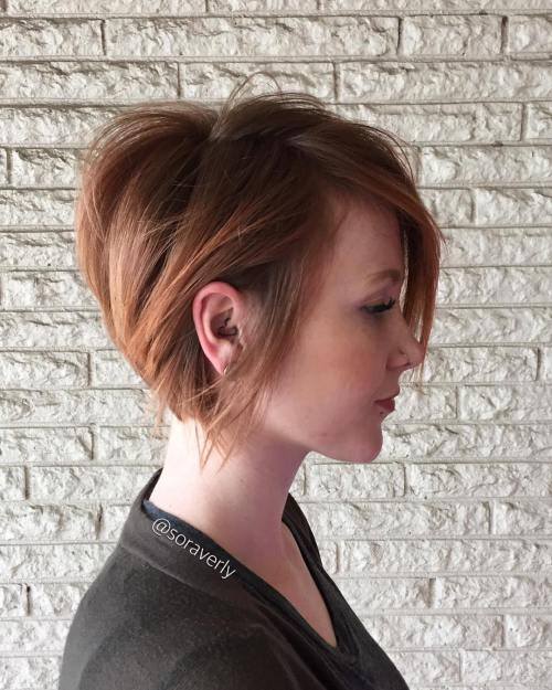 50 cute and easy to style short layered hairstyles short strawberry blonde bob urmus Choice Image