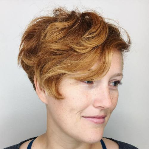 Copper Red Wavy Pixie Bob
