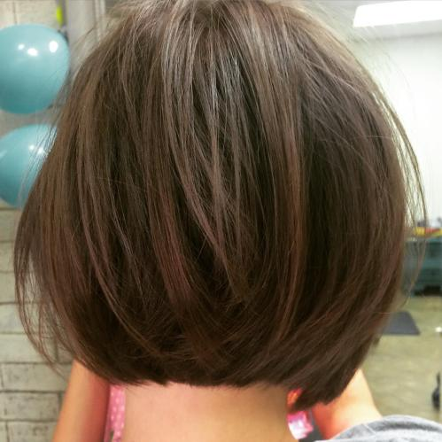 Cute Short Chocolate Brown Bob