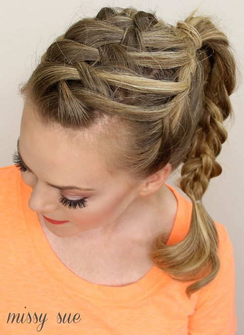 fancy two braids hairstyle