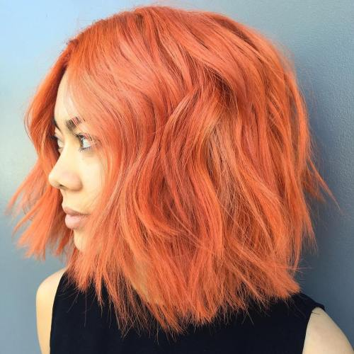 Orange Pink Chopped Bob