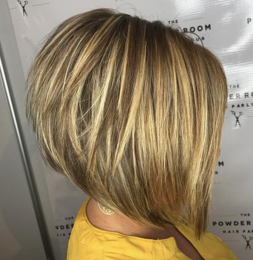 Stacked Honey Blonde Bob