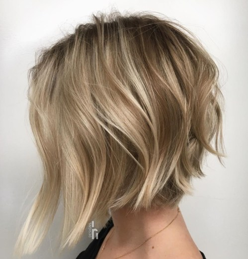 Cute Messy Bronde Bob