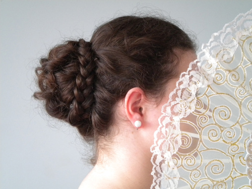 formal braided bun updo