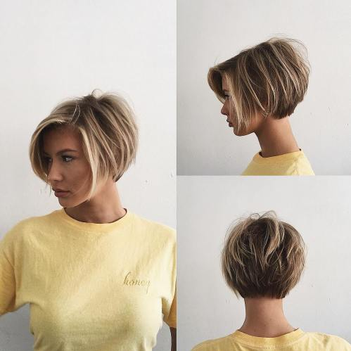 Shaggy Layered Pixie Bob