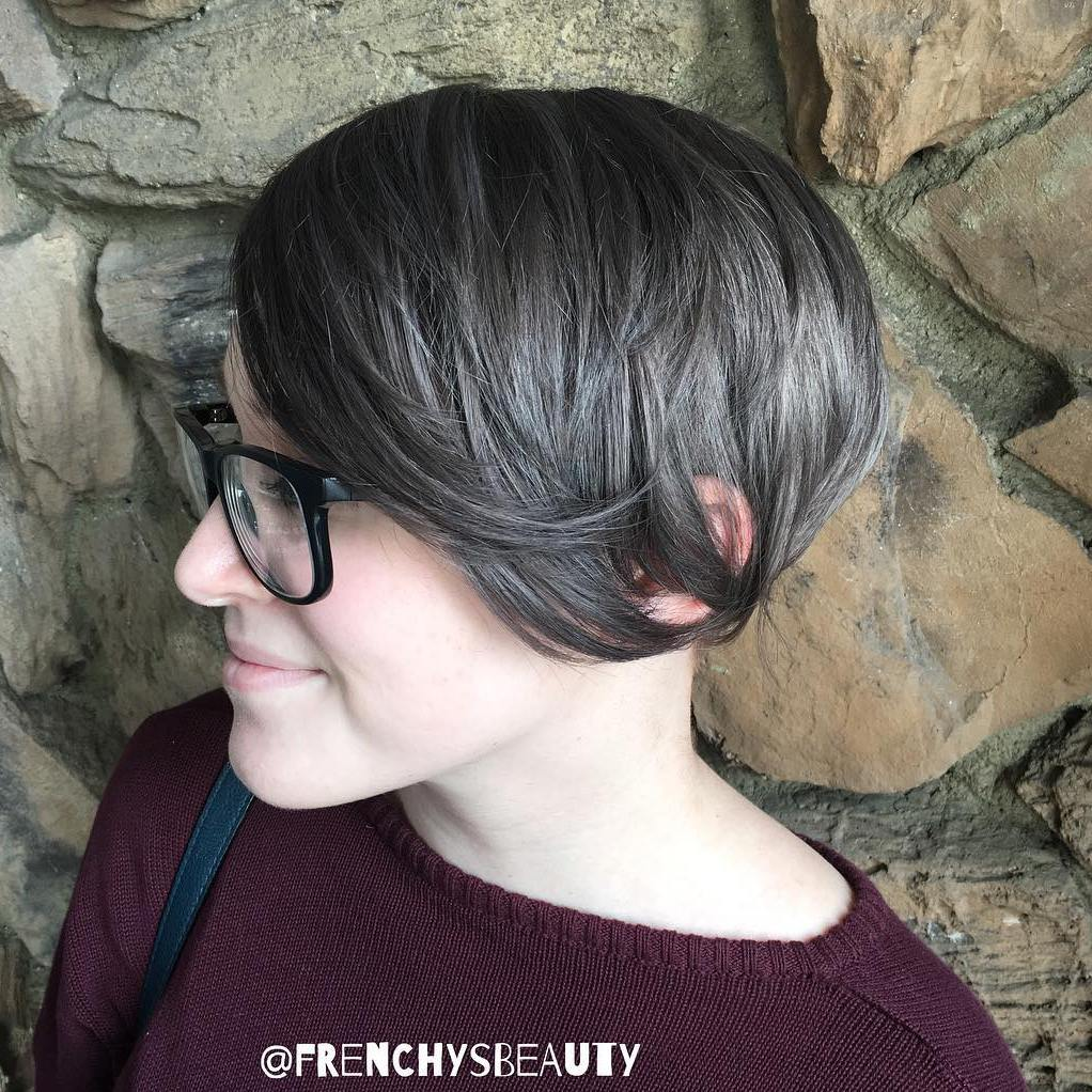 Cropped Brown Gray Bob