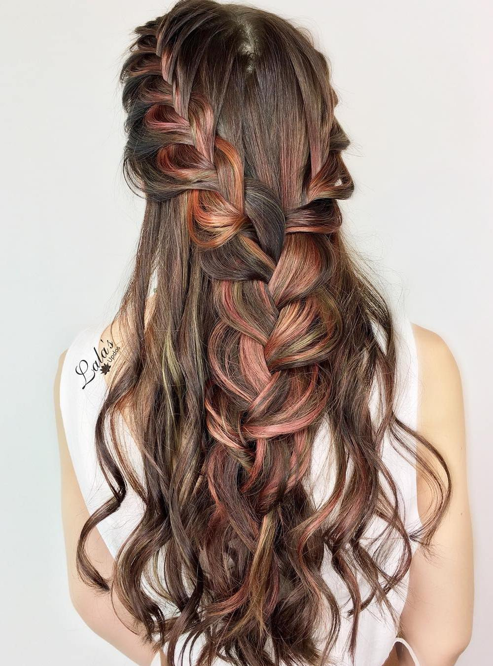 Two Braids Into One Half Up Hairstyle