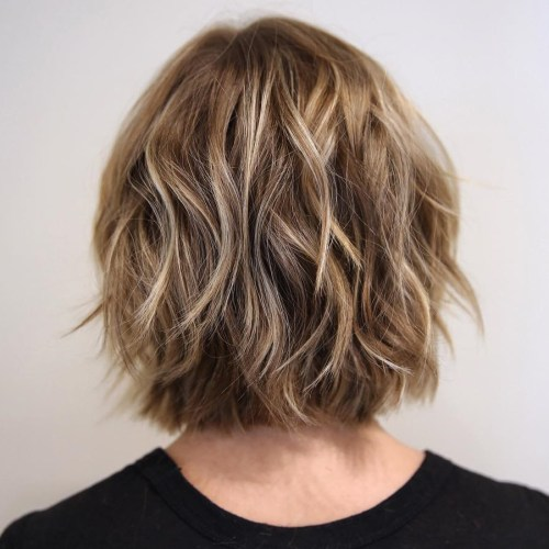 Neck-Length Bob With Shaggy Layers