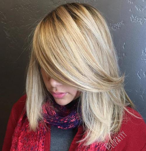 Shoulder Length Blonde Bob