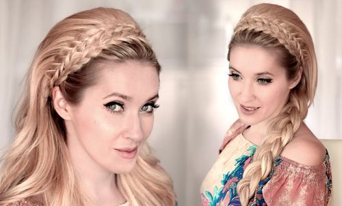 double braided headband