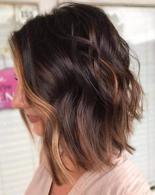 Side-Parted Lob For Wavy Hair