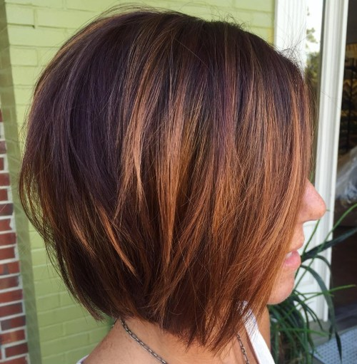 Tousled Layered Side-Parted Bob