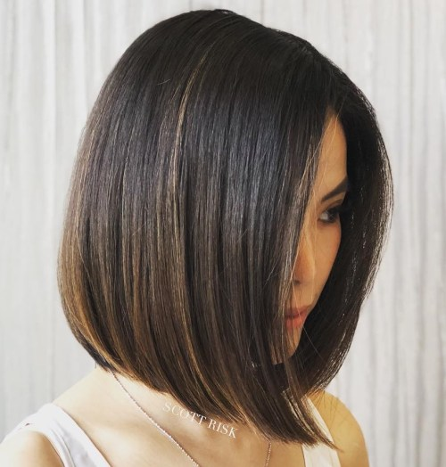 Collarbone Bob Haircut