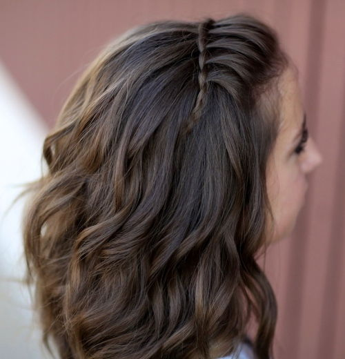 easy waterfall braid