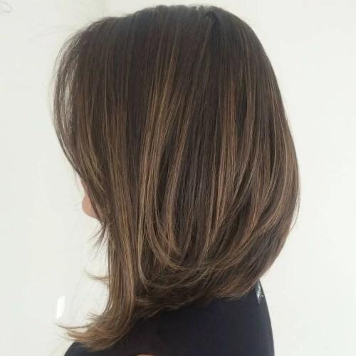 Long Brown A-Line Bob