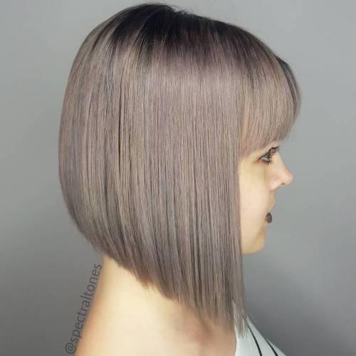 Angled bob hair styles with bangs
