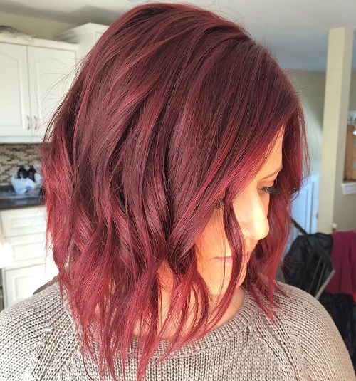 Choppy Burgundy Lob