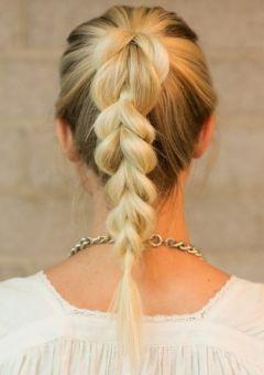 fancy braided pony hairstyle
