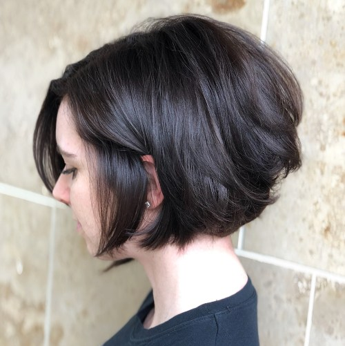 Jaw-Length Textured Brunette Bob