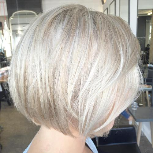 Layered Ash Blonde Bob