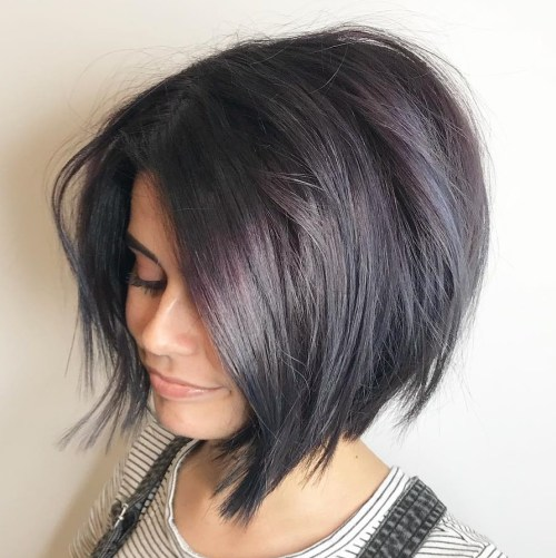 Short Bob With Razored Ends