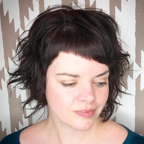 Short Razored Bob With Asymmetrical Bangs