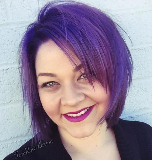 Purple Choppy Bob