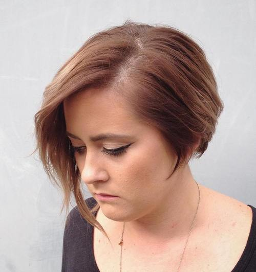 short asymmetrical bob for fine hair