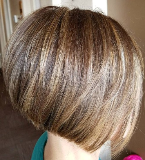 Slanted Bob for Thick Hair