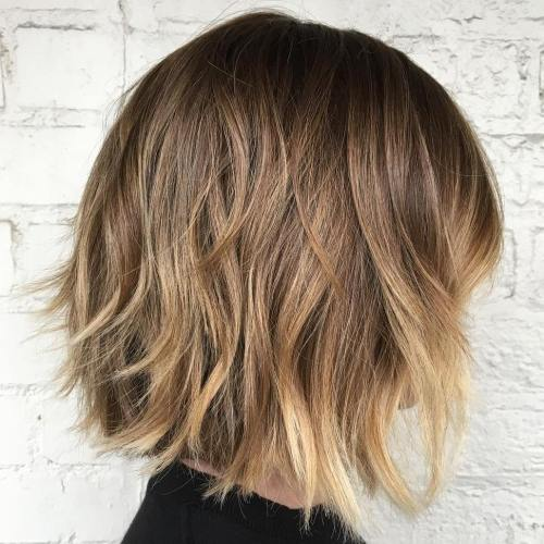 Layered Bob With Blonde Balayage