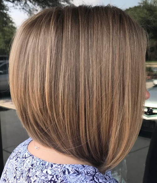 A-Line Bob For Straight Hair