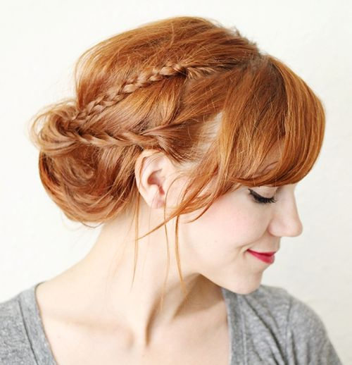 quick messy braided updo