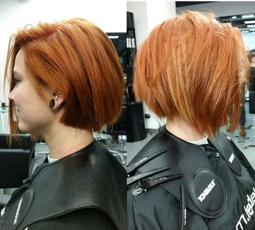 choppy red bob