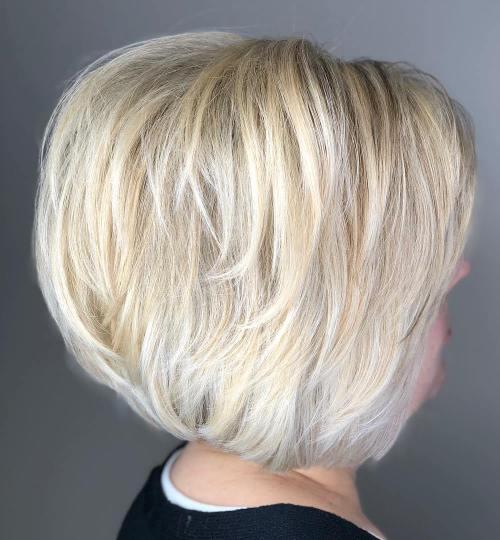 Short Blonde Layered Bob