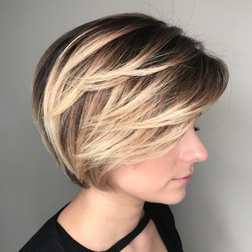 Short Bob with Angled Layers