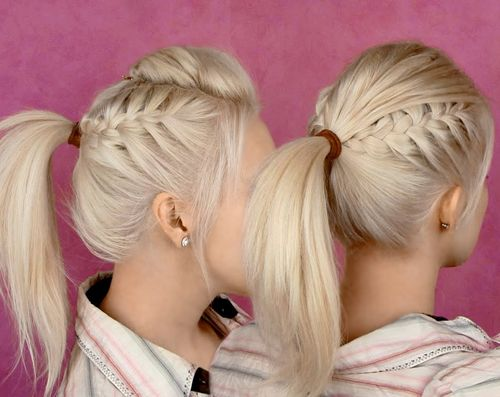 Peachy Braided Ponytail Hairstyles 40 Cute Ponytails With Braids Short Hairstyles Gunalazisus