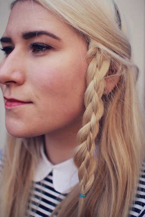 Lovely Simple Braided Hairstyle For Long Hair
