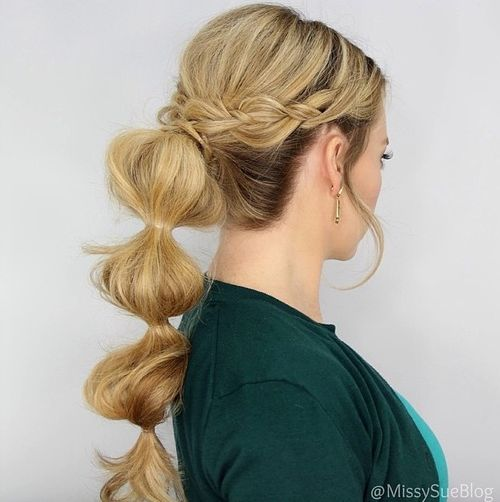 bubbles hair styles braided ponytail hairstyles 40 ponytails with braids 7756